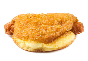 close up fried donut