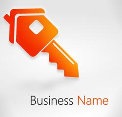 symbole clef de maison orange