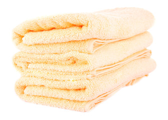 Color towels, isolated on white