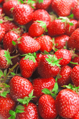 Ripe sweet strawberries close-up