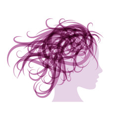 Purple Vector Logo beauty hair