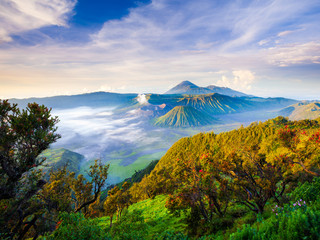 Bromo volcano at sunrise,East Java, Indonesia