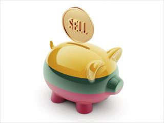 Lithuania Sell Concept Piggy Concept