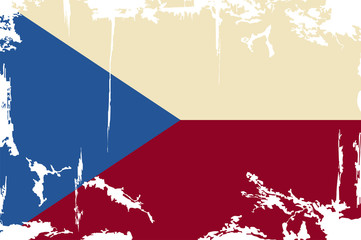 Czech Republic grunge flag. Vector illustration