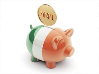 Ireland Social Concept Piggy Concept