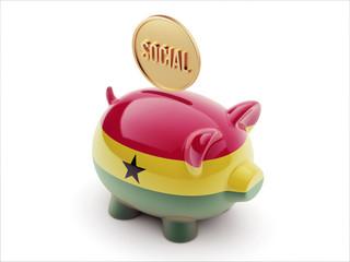Ghana Social Concept Piggy Concept