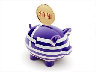 Greece Social Concept Piggy Concept