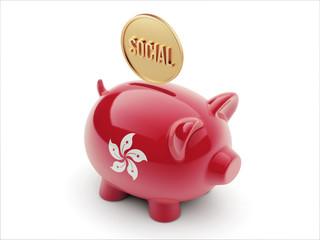 Hong Kong Social Concept Piggy Concept