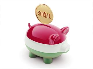 Hungary Social Concept Piggy Concept