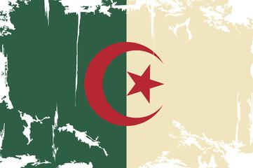Algerian grunge flag. Vector illustration
