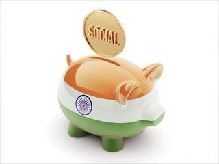 India Social Concept Piggy Concept