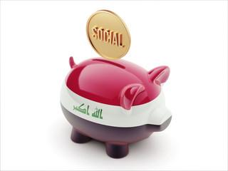 Iraq Social Concept Piggy Concept