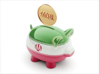 Iran Social Concept Piggy Concept