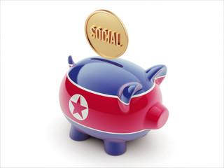 North Korea Social Concept Piggy Concept