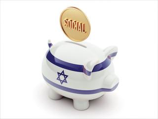 Israel Social Concept Piggy Concept