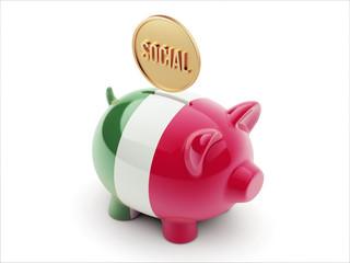 Italy Social Concept Piggy Concept