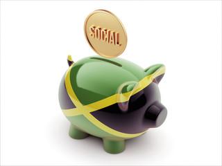 Jamaica Social Concept Piggy Concept