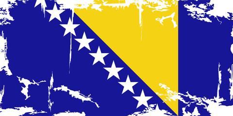 Bosnia and Herzegovina grunge flag. Vector