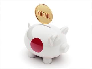 Japan Social Concept Piggy Concept