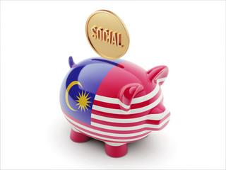 Malaysia Social Concept Piggy Concept