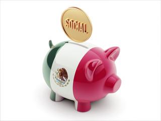 Mexico. Social Concept Piggy Concept