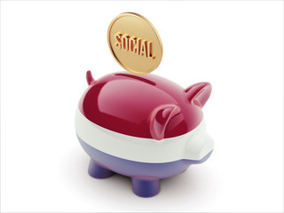 Netherlands Social Concept Piggy Concept
