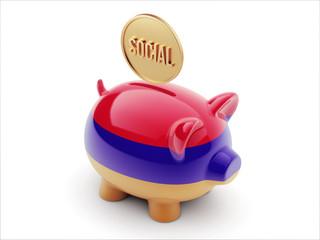 Armenia Social Concept Piggy Concept