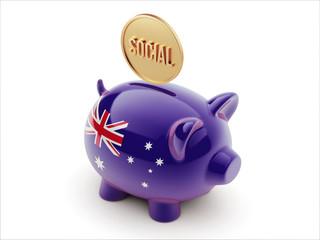 Australia Social Concept Piggy Concept