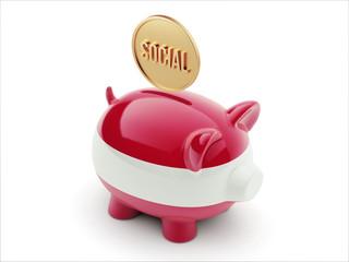 Austria Social Concept Piggy Concept
