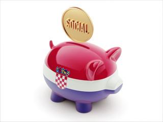 Croatia. Social Concept Piggy Concept