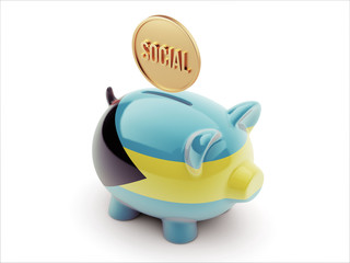 Bahamas. Social Concept Piggy Concept