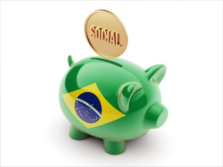 Brazil Social Concept Piggy Concept
