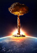 Leinwandbild Motiv Nuclear bomb detonation