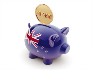 New Zealand Solidarity Concept Piggy Concept