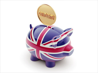 United Kingdom Solidarity Concept Piggy Concept