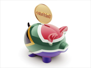 South Africa Solidarity Concept Piggy Concept