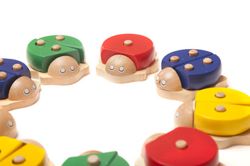 wooden bugs toys