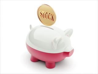 Poland Stock Concept Piggy Concept