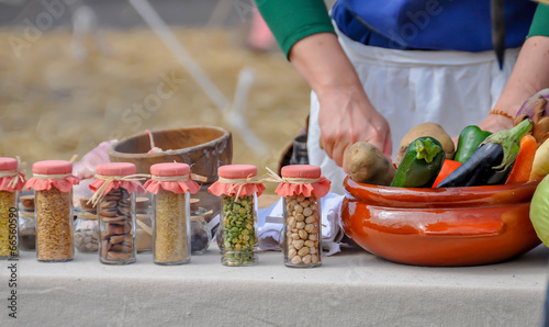 Tuinposter Koken cuisine du terroir