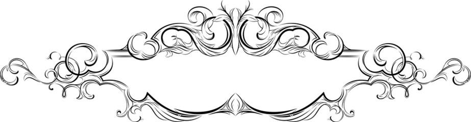 Vector frame with floral elements for registration 4