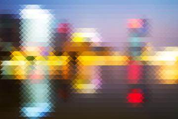 Abstract pixel background,defocus