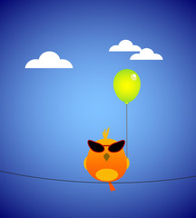 The bird and balloon