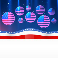 vector 4th of july design
