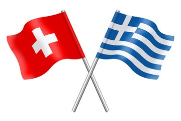 Flags: Switzerland and Greece