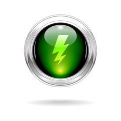 Shiny Flash Button Icon