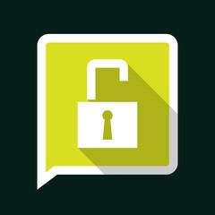 Minimal Unlock Icon