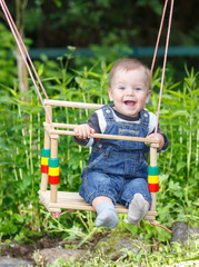 Toddler swinging