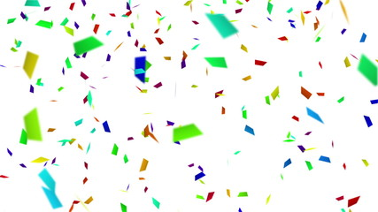 colorful confetti with luma matte loopable background