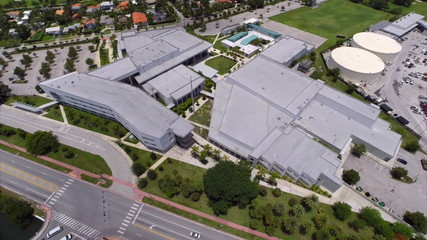 Miami Beach senior high school aerial video