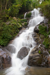 Waterfall in mountain jungle near Chiang Rai